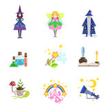 Fairytale Characters And Related To Them Objects Stock Image
