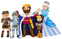 Fairytale characters on white background Stock Photography