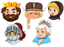 Fairytale characters on white background Royalty Free Stock Images
