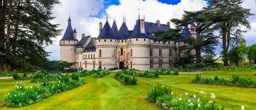 Fairytale Chaumont-sur -Loire castle. Loire valley, France Stock Photography