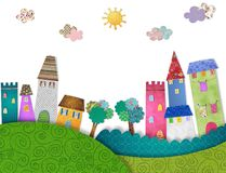 Fairytale  City Stock Images