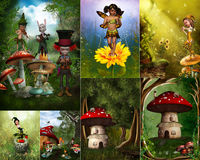 Fairytale collage stock illustration