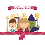 Fairytale concept design. Characters of fairytale fantasy and magic theme Vector illustration Stock Photo