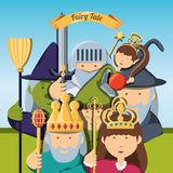 Fairytale concept design. Characters of fairytale fantasy and magic theme Vector illustration Stock Image
