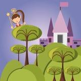 Fairytale concept design. Fairy of fairytale fantasy and magic theme Vector illustration Stock Photo
