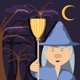 Fairytale concept design. Witch of fairytale fantasy and magic theme Vector illustration Stock Photo