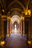 Fairytale corridor of Monserrate Palace Stock Photography