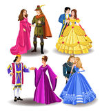 Fairytale couples. Vector collection of four fairytale couples  on a white background Stock Photo