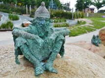 Fairytale dwarf statues Royalty Free Stock Photo