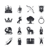 Fairytale and fantasy icons Stock Photo