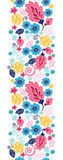 Fairytale flowers vertical seamless pattern Stock Photos