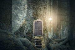 Fairytale forest house stock photo