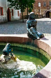 Fairytale  Fountain in Steinau an der Strasse, Germany Royalty Free Stock Images
