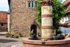 Fairytale fountain in Steinau, Germany Royalty Free Stock Photography
