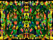 Fairytale Garden. An abstract rendition of  a fairytale fantastic and opulent garden Stock Photography