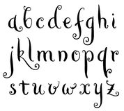 Fairytale hand drawn alphabet. Brush painted letters. Vector illustration Royalty Free Stock Photos