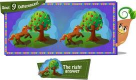 Fairytale Horse and apple Royalty Free Stock Photos