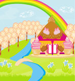 Fairytale house of candy Royalty Free Stock Photo
