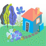 Fairytale house illustration Stock Images