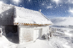Fairytale house in the mountains Stock Images