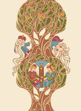Fairytale  illustration Stock Photos