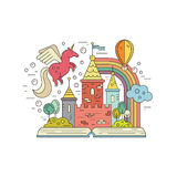 Fairytale land Royalty Free Stock Photography