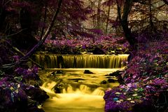 Fairy tale river royalty free stock photo