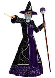 Fairytale Mage. 3D digital render of a fairy tale mage isolated on white background Stock Photo
