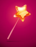 Fairytale magic wand with shining star Stock Image