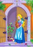 Fairytale mooie heldin stock illustratie