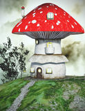 Fairytale mushroom house Royalty Free Stock Image