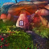 Fairytale mushrooms Royalty Free Stock Photography