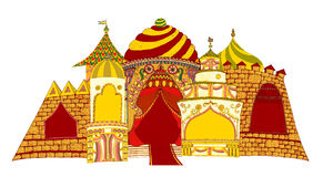 Fairytale palace. Fairytale ancient palace in east style Royalty Free Stock Photos