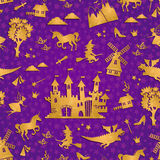Fairytale pattern Royalty Free Stock Images