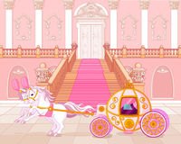 Fairytale pink carriage Royalty Free Stock Photos
