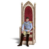 Fairytale prince rules the fairyland. 3D stock illustration