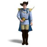 Fairytale prince with sword and cape Stock Photos