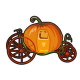 Fairytale pumpkin carriage for Princess Royalty Free Stock Photo