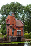 Fairytale red brick house-castle in Kaliningrad, Russia.  Stock Photography