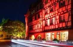 Fairytale rode huizen in Colmar stad Royalty-vrije Stock Afbeeldingen