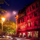 Fairytale rood huis in Colmar Royalty-vrije Stock Foto's