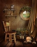 Fairytale room with a window Stock Photos