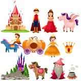 Fairytale set royalty free illustration