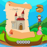 Fairytale theme with castle and characters Stock Photography