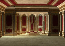 Fairytale Throne Room Royalty Free Stock Photography