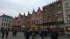 A fairytale town. Plaza Markt, Bruges, Belgium Royalty Free Stock Photos