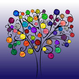Fairytale tree with bright fruits Stock Photography