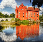 Fairytale Water Castle royalty free stock images