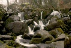 Fairytale waterfall. In the heart of Dartmoor UK Royalty Free Stock Photo