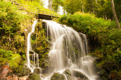 A fairytale waterfall in the black wood Germany Royalty Free Stock Photo